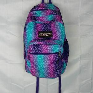 Trans Jansport Purple Teal Backpack